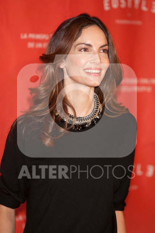 Model Eugenia Silva poses during the EUSTYLE project presentation in Madrid, Spain. December 02, 2014. (ALTERPHOTOS/Victor Blanco)