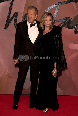 Mario Testino and Kate Moss<br /> The Fashion Awards 2016 , arrivals at the Royal Albert Hall, London, England on December 05 2016.<br /> CAP/PL<br /> ©Phil Loftus/Capital Pictures /MediaPunch ***NORTH AND SOUTH AMERICAS ONLY***