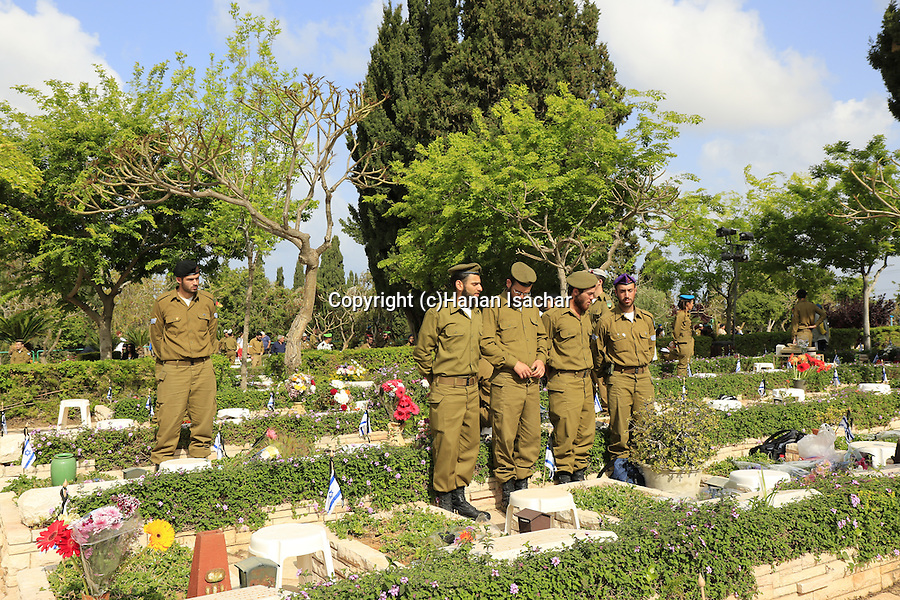 Israel, Tel Aviv, Memorial Day in Kiryat Shaul Military Cemetery