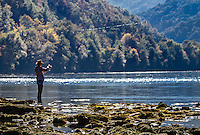 Flyfishing on Drina River, Serbia