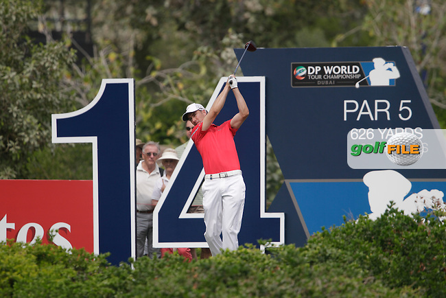 Ross FISHER (ENG) during round 4 of the DP World, Tour Championship, Dubai, UAE.<br /> Picture: Fran Caffrey www.golffile.ie