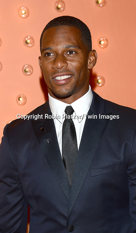 Victor Cruz attends the New Yorkers for Children 15th Annual Fall Gala to Benefit Youth in Foster Care which is presented by Chloe and David Yurman at Cipriani 42nd Street on September 30,2014 in New York City. <br /> <br /> photo by Robin Platzer/Twin Images<br />  <br /> phone number 212-935-0770