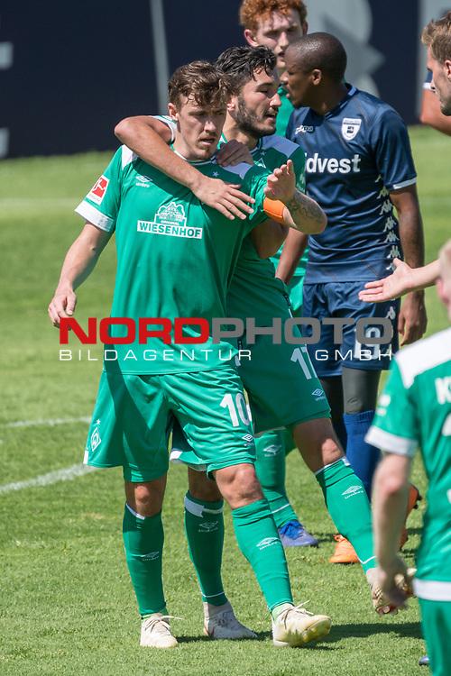 11.01.2019, Bidvest Stadion, Braampark, Johannesburg, RSA, FSP, SV Werder Bremen (GER) vs Bidvest Wits FC (ZA)<br /> <br /> im Bild / picture shows <br /> <br /> JUbel 2:0 durch Max Kruse (Werder Bremen #10) mit Nuri Sahin (Werder Bremen #17)<br /> <br /> Foto &copy; nordphoto / Kokenge