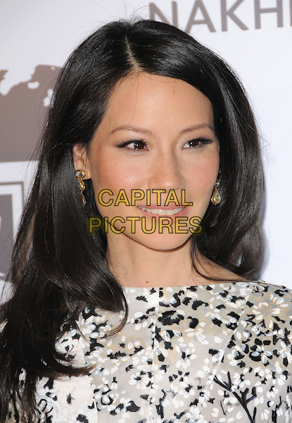 LUCY LIU .Attending The Nakheel Introduction of The Trump International Hotel & Tower Dubai held at The Tar Estate in Bel Air, California on August 23rd 2008.                                                                     .portrait headshot  white and black print .CAP/DVS.©Debbie VanStory/Capital Pictures