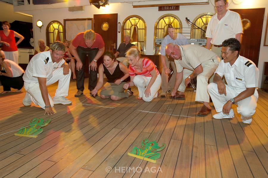 "Similan Islands. After-dinner ""Frog Race"" aboard Star Flyer."