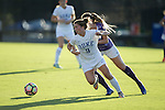 Kat McDonald (9) of the Duke Blue Devils chases after the ball during first half action against the High Point Panthers at Koskinen Stadium on September 11, 2016 in Durham, North Carolina.  The Blue Devils defeated the Panthers 4-1.   (Brian Westerholt/Sports On Film)