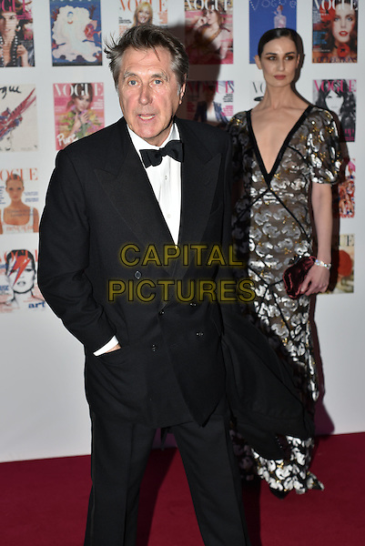 Bryan Ferry, Erin O'Connor at the Vogue100 anniversary gala dinner, British Vogue's centenary anniversary party, The East Albert Lawn in Kensington Gardens, Hyde Park, London, England, UK, on Monday 23 May 2016.<br /> CAP/PL<br /> &copy;PL/Capital Pictures