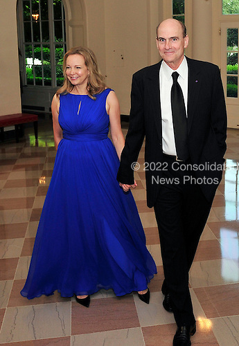 James Taylor and Caroline Taylor arrive for a State Dinner in honor of Chancellor Angela Merkel of Germany at the White House in Washington, D.C.  on Tuesday, June 7, 2011.Credit: Ron Sachs / CNP