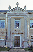 Cambridge: Downing College--Howard Building, north elevation. Quinlan Terry. (Compare to Hawksmoor. Photo '90.