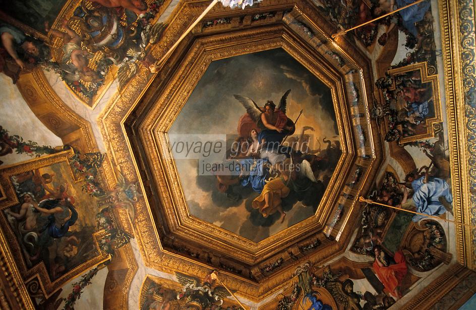Europe/France/Ile-de-France/77/Seine-et-Marne/Maincy: Le château de Vaux-le-Vicomte - Plafond peint par Charles Le Brun
