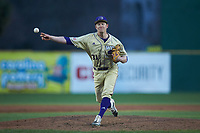 Western Carolina Catamounts relief pitcher Davis Tyndall (31) delivers a pitch to the plate against the Saint Joseph's Hawks at TicketReturn.com Field at Pelicans Ballpark on February 23, 2020 in Myrtle Beach, South Carolina. The Hawks defeated the Catamounts 9-2. (Brian Westerholt/Four Seam Images)