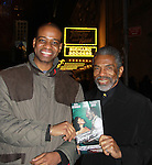 Another World's Andre Shields and friend came to see The Gershwins' Porgy and Bess - The Broadway Musical on January 7, 2012 at The Richard Rogers Theatre, New York City, New York. (Photo by Sue Coflin/Max Photos)