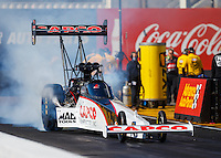 Feb 24, 2017; Chandler, AZ, USA; NHRA top fuel driver Steve Torrence during qualifying for the Arizona Nationals at Wild Horse Pass Motorsports Park. Mandatory Credit: Mark J. Rebilas-USA TODAY Sports