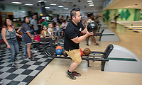 John Nguyen, Assistant Director, Intercultural Affairs<br /> Incoming first-years participating in MSI bowl with members of senior staff at All Star Lanes bowling alley in Eagle Rock, July 27, 2018.<br /> The Multicultural Summer Institute (MSI) is a four-week academic/residential program for approximately 50 incoming first-year students who represent a variety of ethnic, regional and cultural backgrounds. Through MSI, Occidental College introduces its student body to the social, cultural and intellectual resources of Southern California, and familiarizes students with the Oxy community and surrounding Los Angeles area.<br /> (Photo by Marc Campos, Occidental College Photographer)