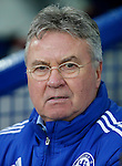Manager of Chelsea, Guus Hiddink during the Emirates FA Cup match at Anfield. Photo credit should read: Philip Oldham/Sportimage