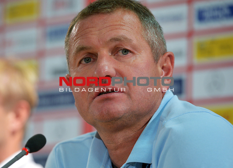 28.08.2013., Germany, Stuttgart - HNK Rijeka coach Matjaz Kek held a press conference on the eve of re-match of the Europa League play-off against VfB Stuttgart.  <br /> Foto &not;&copy;  nph / PIXSELL / Marko Prpic