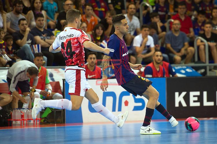 League LNFS 2018/2019.<br /> PlayOff Final. 1er. partido.<br /> FC Barcelona Lassa vs El Pozo Murcia: 7-2.<br /> Fernando vs Aicardo.