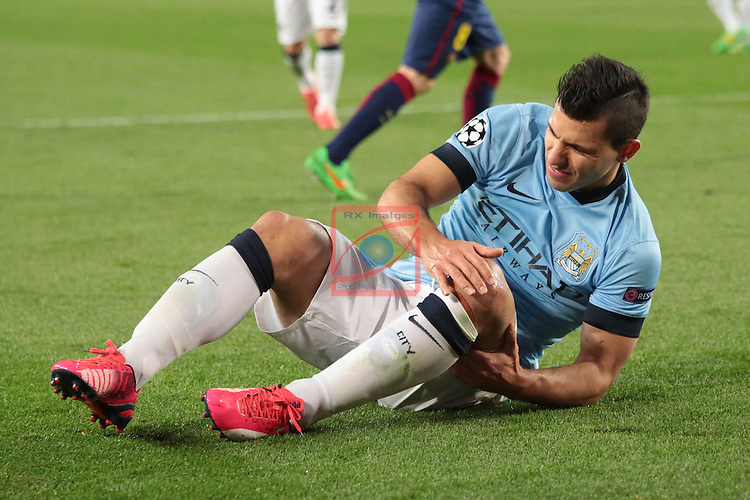 UEFA Champions League 2014/2015. <br /> Round of 16, Second leg.<br /> FC Barcelona vs Manchester City: 1-0.<br /> Kun Aguero.