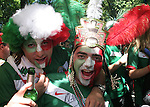 11 June 2006: Mexico fans. Mexico played Iran at the Frankenstadion in Nuremberg, Germany in match 7, a Group D first round game, of the 2006 FIFA World Cup.