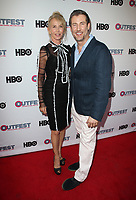 "LOS ANGELES, CA- Trudie Styler, Christopher Racster, At 2017 Outfest Los Angeles LGBT Film Festival - Closing Night Gala Screening Of ""Freak Show"" at The Theatre at Ace Hotel, California on July 16, 2017. Credit: Faye Sadou/MediaPunch"