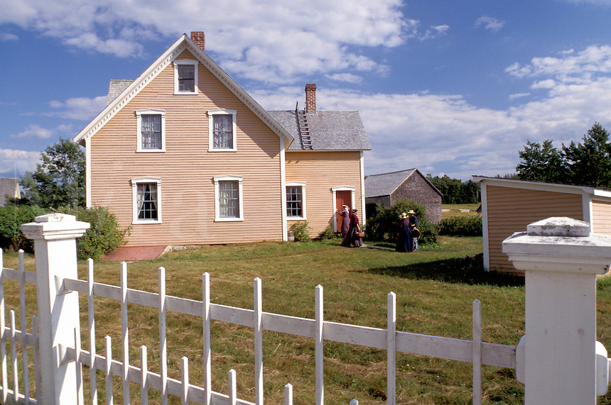 New Brunswick, NB, Canada, Perley House at King's Landing Historical Settlement