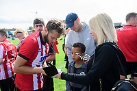 Lincoln City's Jorge Grant signs autographs for fans<br /> <br /> Photographer Chris Vaughan/CameraSport<br /> <br /> Football Pre-Season Friendly (Community Festival of Lincolnshire) - Gainsborough Trinity v Lincoln City - Saturday 6th July 2019 - The Martin & Co Arena - Gainsborough<br /> <br /> World Copyright © 2018 CameraSport. All rights reserved. 43 Linden Ave. Countesthorpe. Leicester. England. LE8 5PG - Tel: +44 (0) 116 277 4147 - admin@camerasport.com - www.camerasport.com