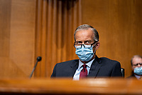 United States Senator John Thune (Republican of South Dakota), speaks during a Senate Finance Committee hearing about the 2020 Filing Season and IRS COVID-19 Recovery at the U.S. Capitol in Washington DC on June 30th, 2020.<br /> Credit: Anna Moneymaker / Pool via CNP /MediaPunch