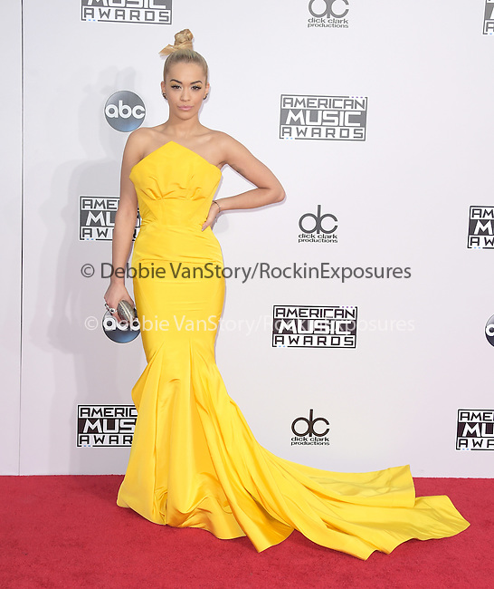 Rita Ora at The 2014 American Music Award held at The Nokia Theatre L.A. Live in Los Angeles, California on November 23,2014                                                                               © 2014Hollywood Press Agency