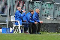 VOETBAL: JOURE: 30-04-2016, SC Joure - VV Mulier, uitslag 2-1, elftaleider Sjeep Rijpkema, trainer Klaas de Jong, ass. Luut de Zee, ©foto Martin de Jong