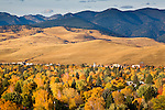 The Missoula, Montana valley in autumn