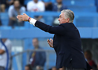 27th October 2019; Stadio Paolo Mazza, Ferrara, Emilia Romagna, Italy; Serie A Football, SPAL versus Napoli; Carlo Ancelotti coach of Napoli gives instructions to his players - Editorial Use