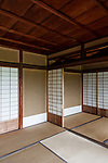 Kyoto, June 27 2013 - Inside the upper Villa's Rinuntei at Shugakuin Imperial villa