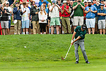 CROMWELL, CT. 20 June 2019-062019 - PGA Tour player Phil Mickelson hits his approach shot on the first hole, during the first round of the Travelers Championship at TPC River Highlands in Cromwell on Thursday. Bill Shettle Republican-American