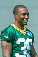 Green Bay Packers cornerback Demetri Goodson (39) during a training camp practice on August 15, 2017 at Ray Nitschke Field in Green Bay, Wisconsin.   (Brad Krause/Krause Sports Photography)