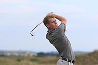 Hugh O'Hare (Fortwilliam) on the 15th tee during Round 3 of the East of Ireland Amateur Open Championship 2018 at Co. Louth Golf Club, Baltray, Co. Louth on Monday 4th June 2018.<br /> Picture:  Thos Caffrey / Golffile<br /> <br /> All photo usage must carry mandatory copyright credit (&copy; Golffile | Thos Caffrey