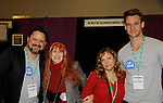 Jane Elissa with Phantom of the Opera Andrew Drest and Nicholas Cunningham - all attending the first ever 3-day Broadway Con on January 22 - 24, 2016 at the Hilton Hotel, New York City, New York. (Photo by Sue Coflin/Max Photos)