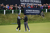 Thorbjorn Olesen (DEN) wins the 2015 Alfred Dunhill Links Championship at the Old Course in St. Andrews in Scotland on 4/10/15.<br />