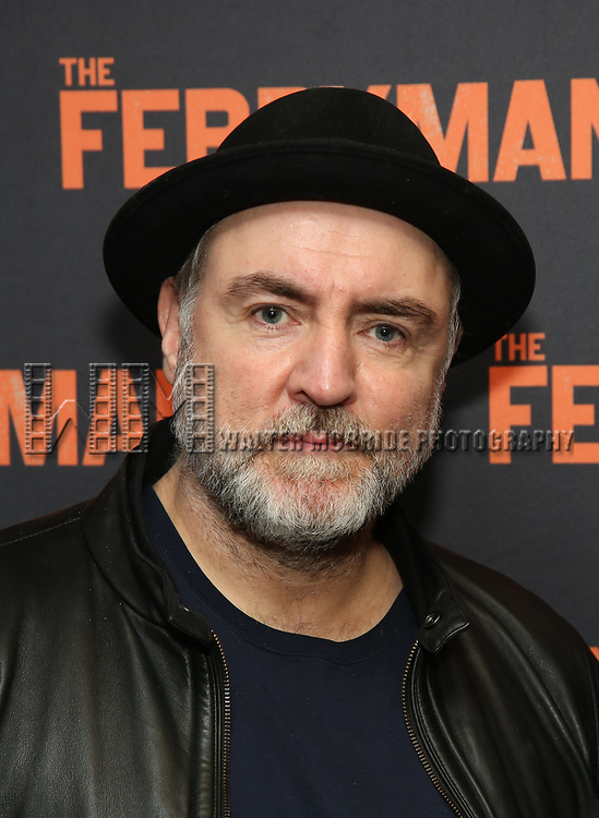 """Glenn Spears attends the """"The Ferryman"""" cast change photo call on January 17, 2019 at the Sardi's in New York City."""