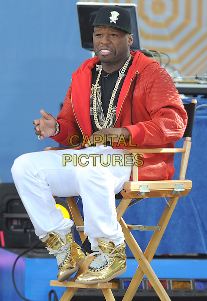 New York, NY- May 30: Curtis &quot;50 Cent&quot; Jackson  performs during the 2014 GMA Summer Concert Series in Central Park at Rumsey Playfield on May 30, 2014 in New York City. .  <br /> CAP/RTNSTV<br /> &copy;RTNSTV/MPI/Capital Pictures