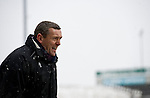 Northampton Town 1 Oxford United 0, 23/03/2013. Sixfields, League Two. Oxford United are the visitors to Sixfields as the long British winter continues in Northamptonshire. Aidy Boothroyd barks orders from the technical area. Photo by Simon Gill