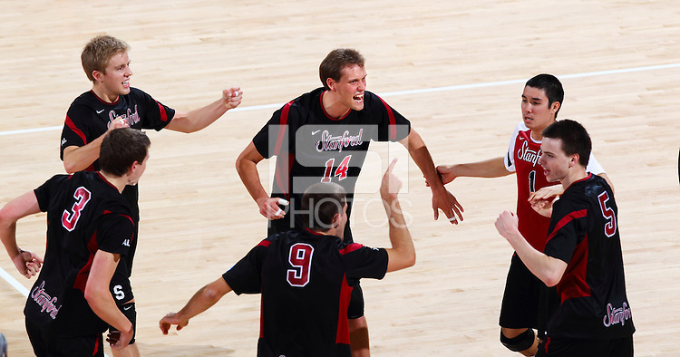 STANFORD, CA - February 25, 2011: Men's volleyball, Stanford vs UCLA.