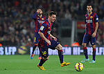 22.11.2014 Barcelona. La Liga day 12. Picture show Leo Messi in action during game between FC Barcelona v Sevilla at Camp Nou