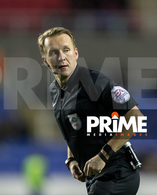 Referee Oliver Langford during the Sky Bet Championship match between Reading and Queens Park Rangers at the Madejski Stadium, Reading, England on 12 January 2017. Photo by Andy Rowland.