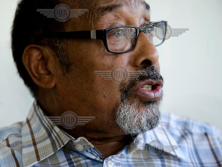 Ahmed M. Mahamoud Silanyo, leader of the Peace, Unity and Development (KULMIYE) Party.