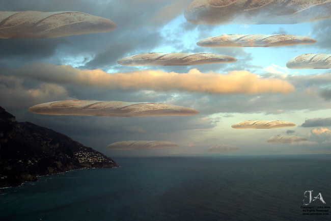 Bread Sky Over Positano, a tribute to René Magritte