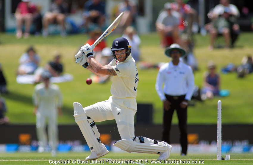 England's Ben Stokes bats during day two of the international cricket 1st test match between NZ Black Caps and England at Bay Oval in Mount Maunganui, New Zealand on Friday, 22 November 2019. Photo: Dave Lintott / lintottphoto.co.nz