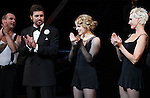 R. Lowe, Amy Spanger, Amra-Faye Wright with Billy Ray Cyrus making his Broadway Debut Curtain Call  in 'Chicago' at the Ambassador Theatre in New York City on 11/05/2012