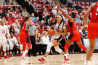 Stanford, CA - November 2, 2019:  Stanford Women's Basketball hosts USA Basketball for an exhibition game at Maples Pavilion.  USA Basketball won 95-80 over Stanford.