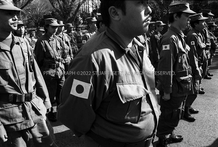 Tokyo, Japan..Nationalists gather at Yasukuni Shrine...All photographs ©2003 Stuart Isett.All rights reserved.This image may not be reproduced without expressed written permission from Stuart Isett.