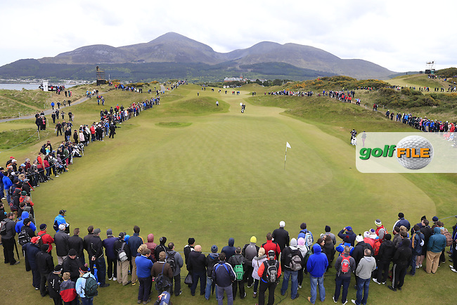 Tyrrell HATTON (ENG) at the 1st green during Saturday's Round 3 of the 2015 Dubai Duty Free Irish Open, Royal County Down Golf Club, Newcastle Co Down, Northern Ireland 5/30/2015<br /> Picture Eoin Clarke, www.golffile.ie